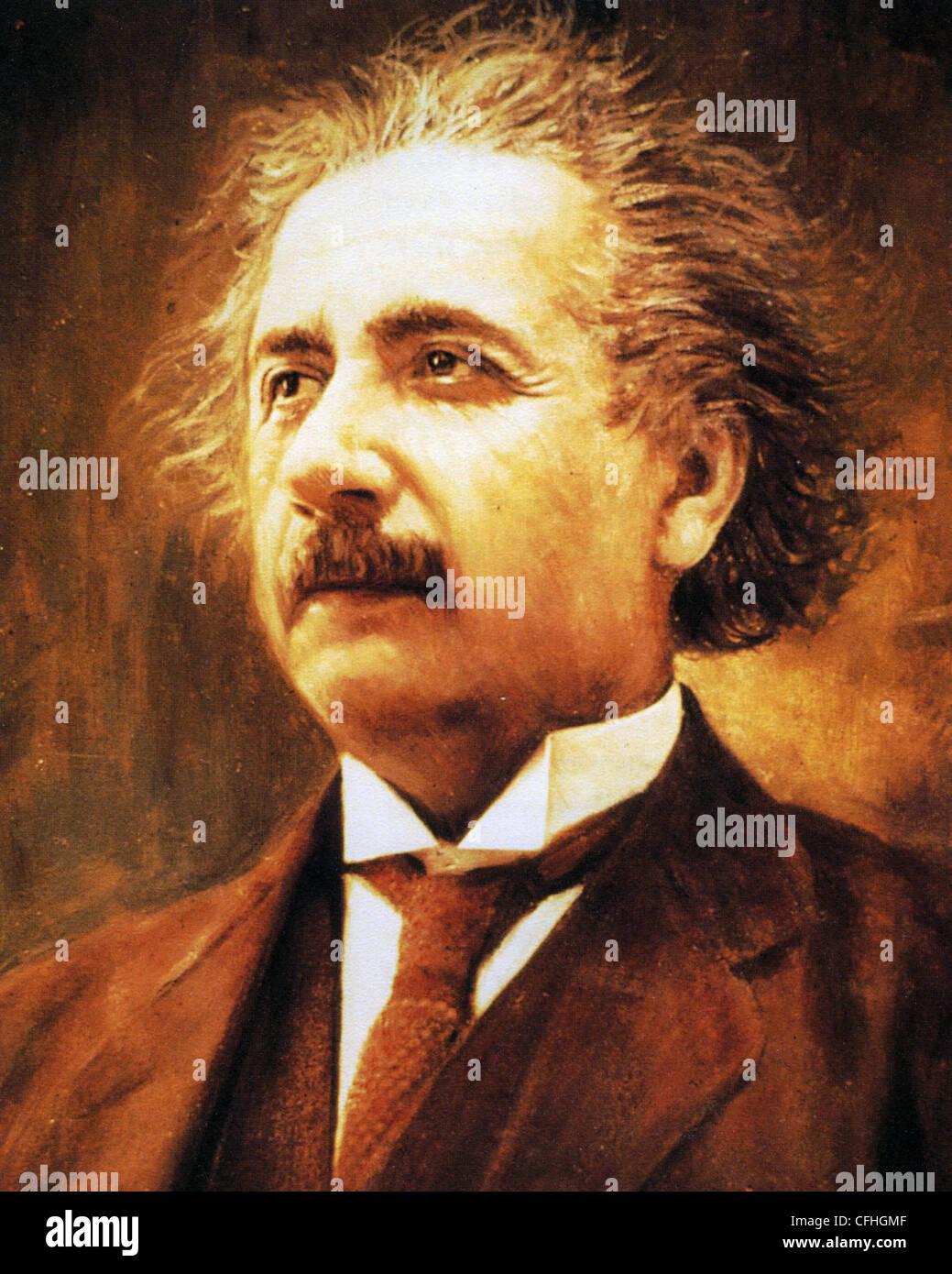 ALBERT EINSTEIN (1879-1955) physicien théorique né en Allemagne Photo Stock