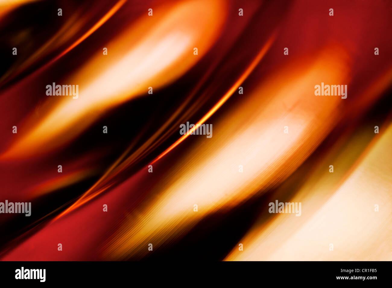 Gros plan du verre coloré. Abstract image prise avec un objectif macro à fort grossissement. Photo Stock