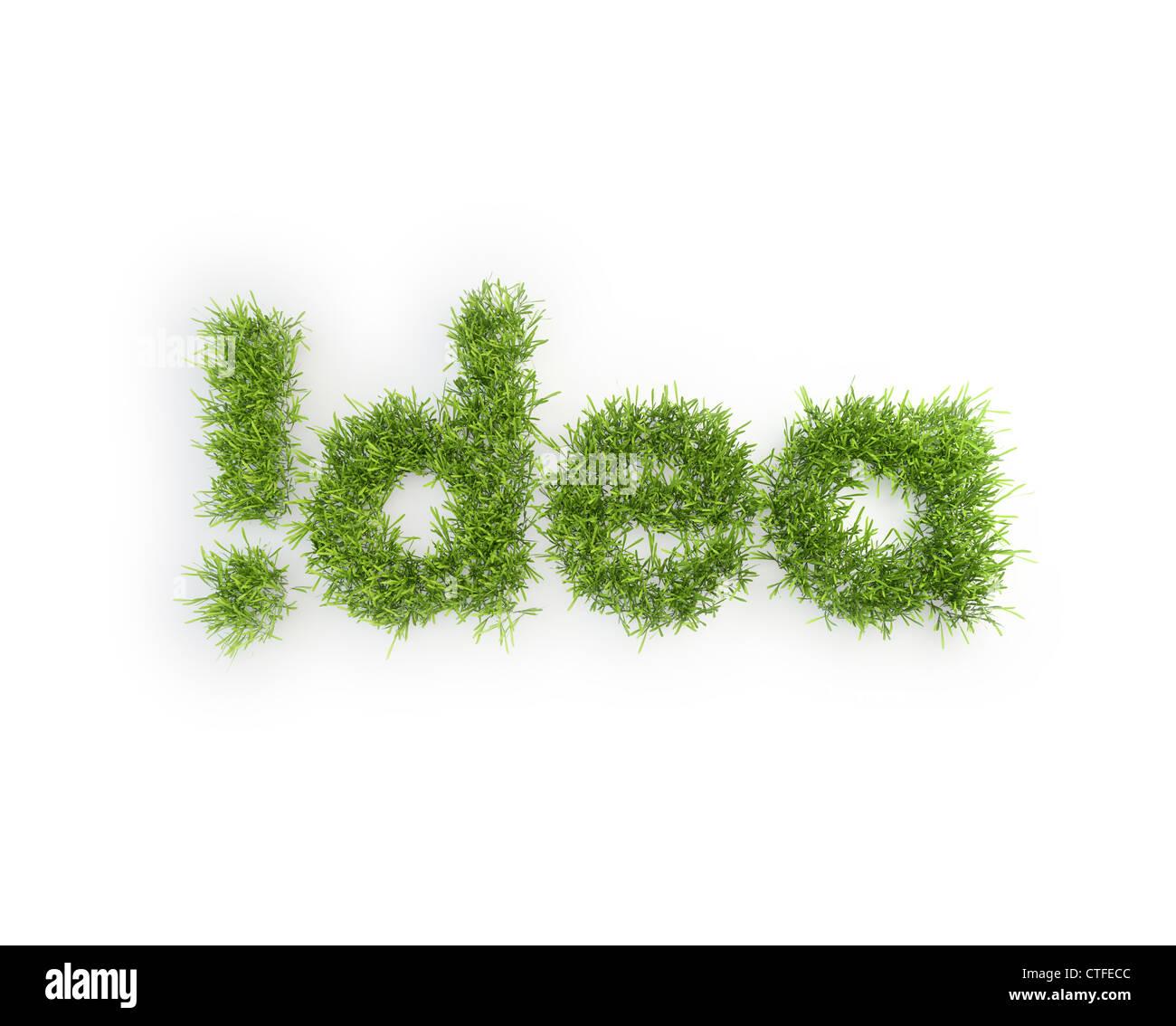Idée de l'herbe patch - creativity concept Photo Stock