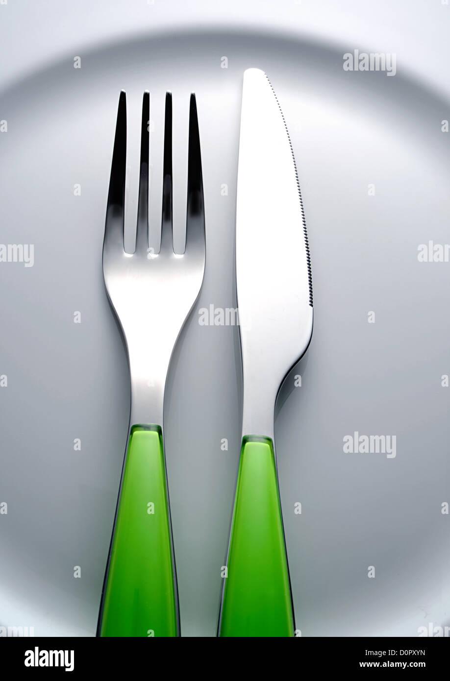 fourchette couteau Photo Stock