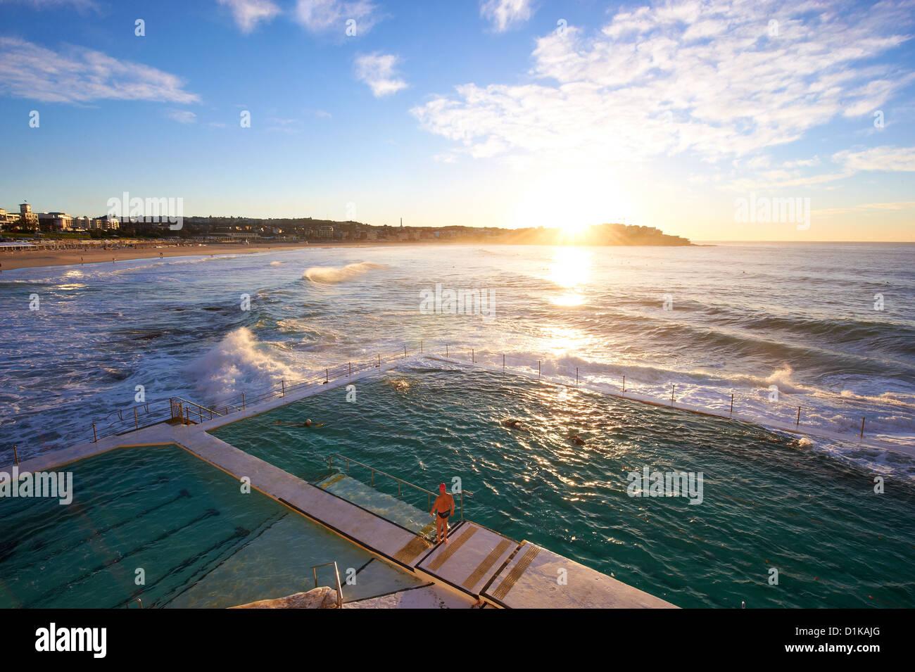 Icebergs de Bondi, Sydney New South Wales Australie Photo Stock