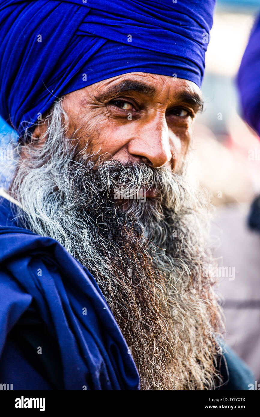 Homme sikh à Delhi, Inde Photo Stock
