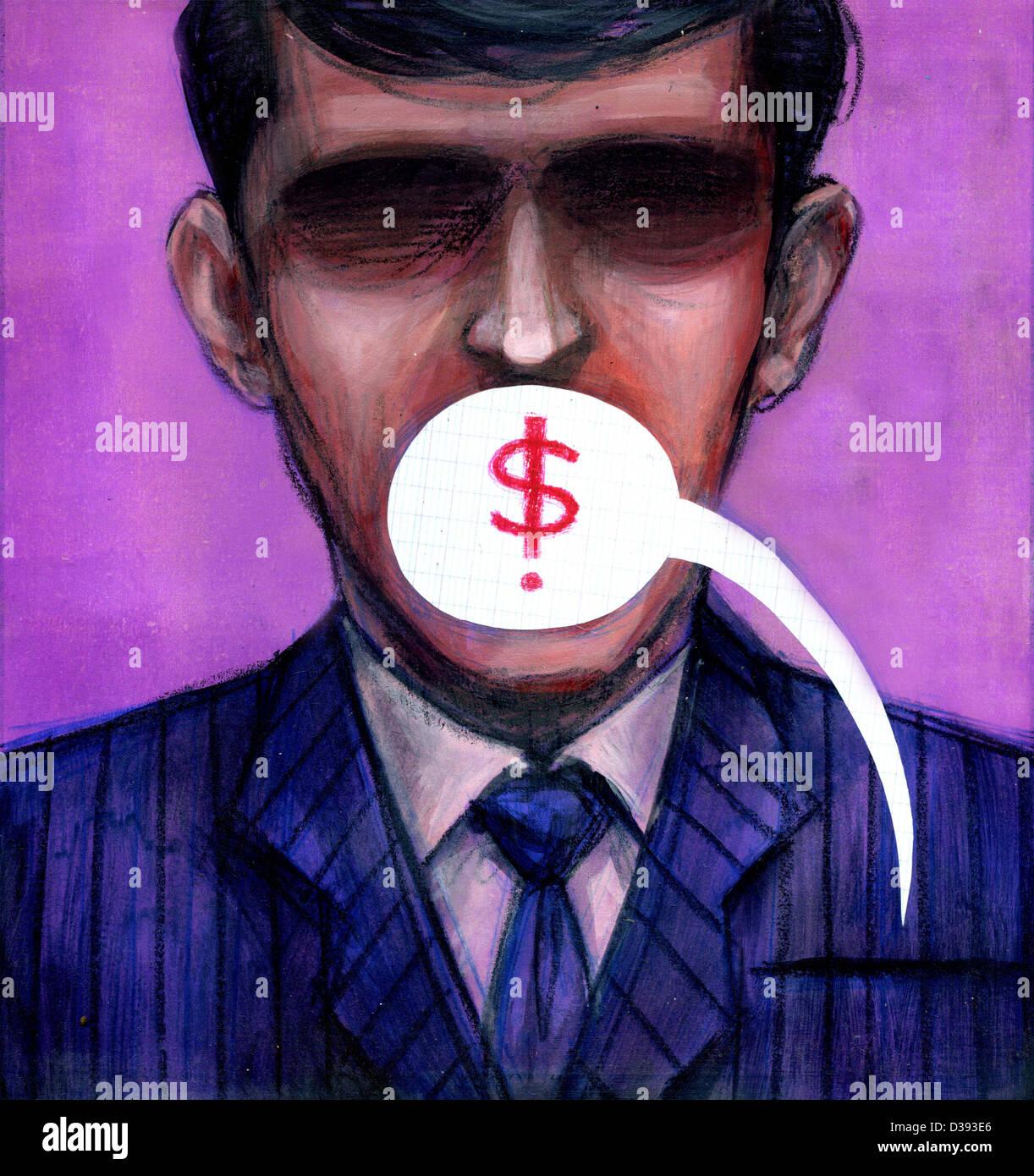 Parler d'argent Photo Stock