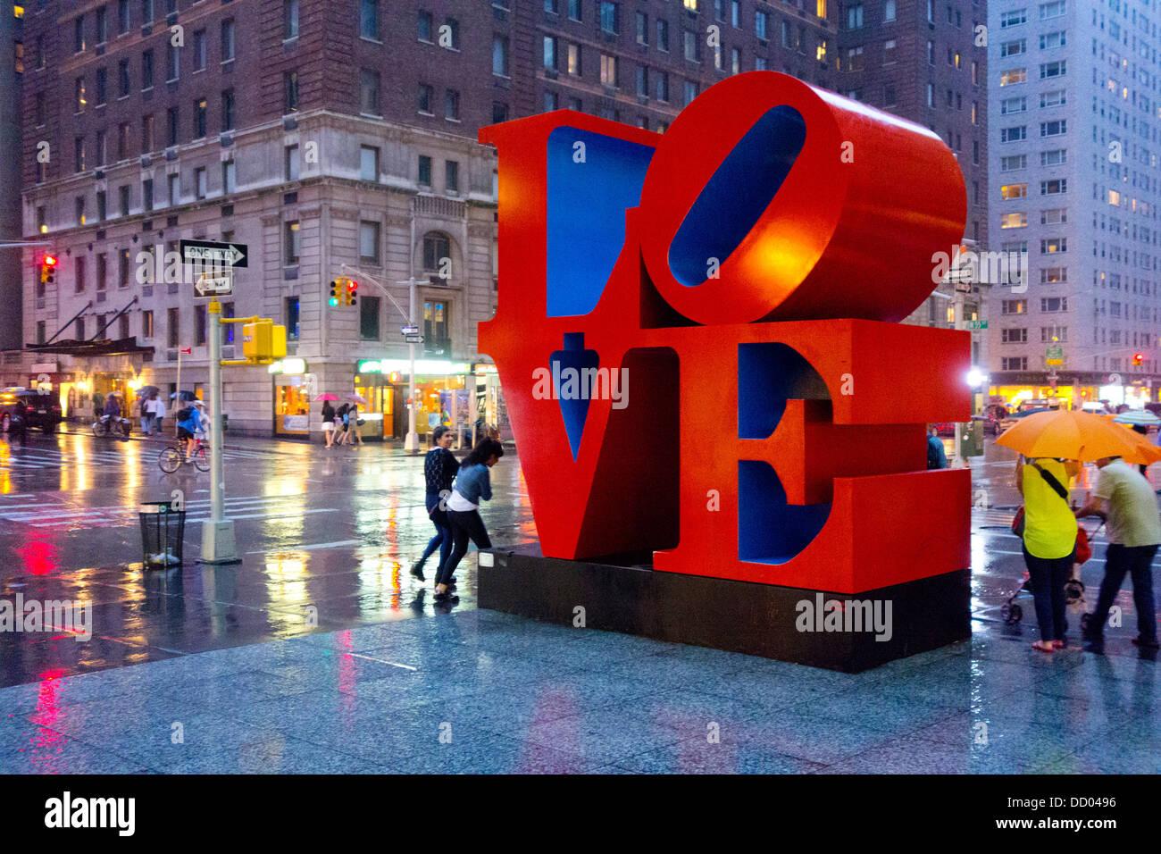 Sculpture Love de Robert Indiana dans NYC Photo Stock