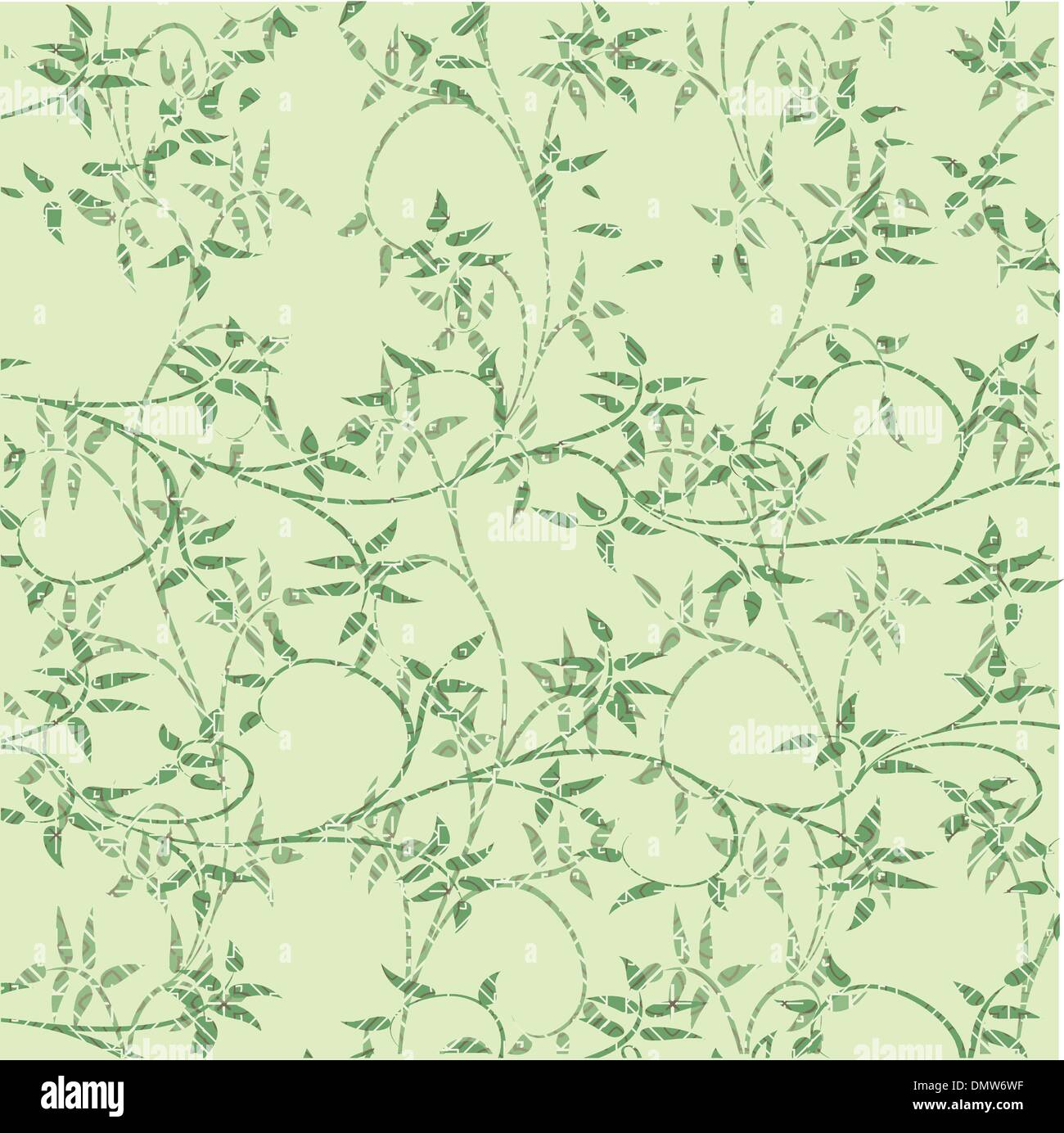Les feuilles vertes fond décoratif Photo Stock