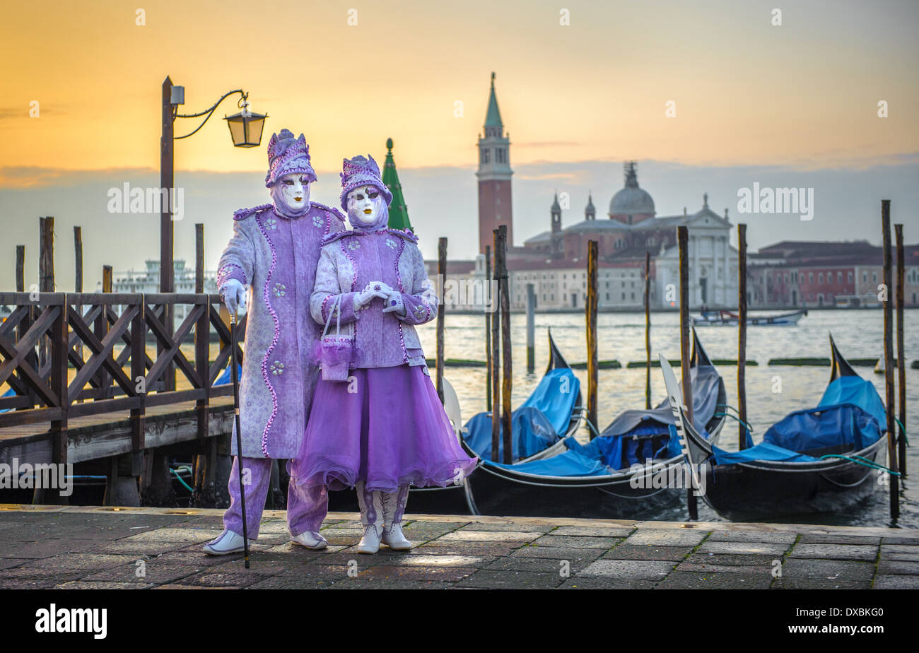 Les masques de carnaval de Venise Photo Stock