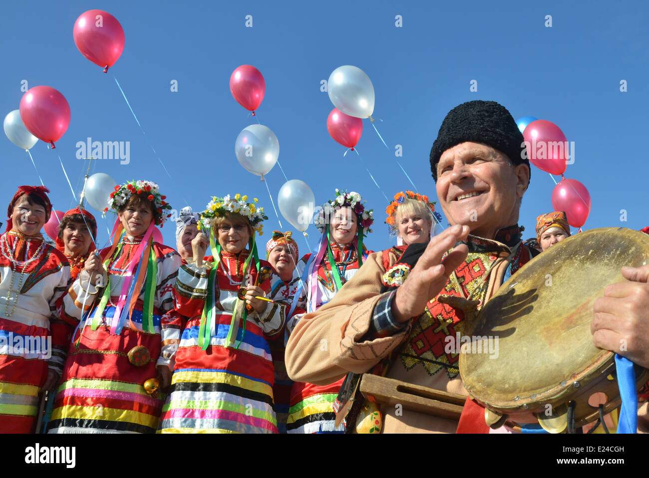 Costumes folkloriques ukrainiennes Photo Stock