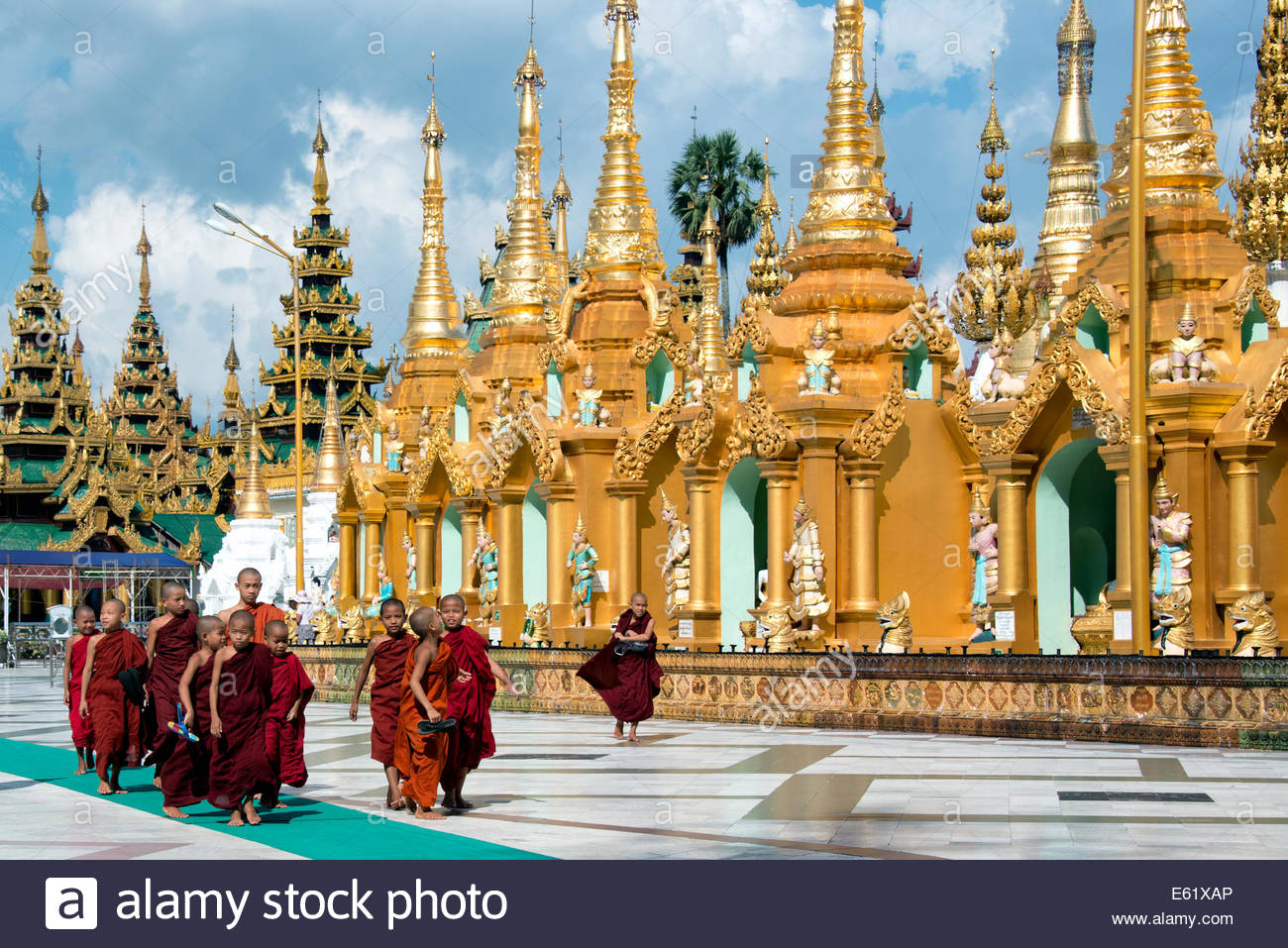 La Pagode Shwedagon à Yangon Myanmar (Birmanie) Photo Stock
