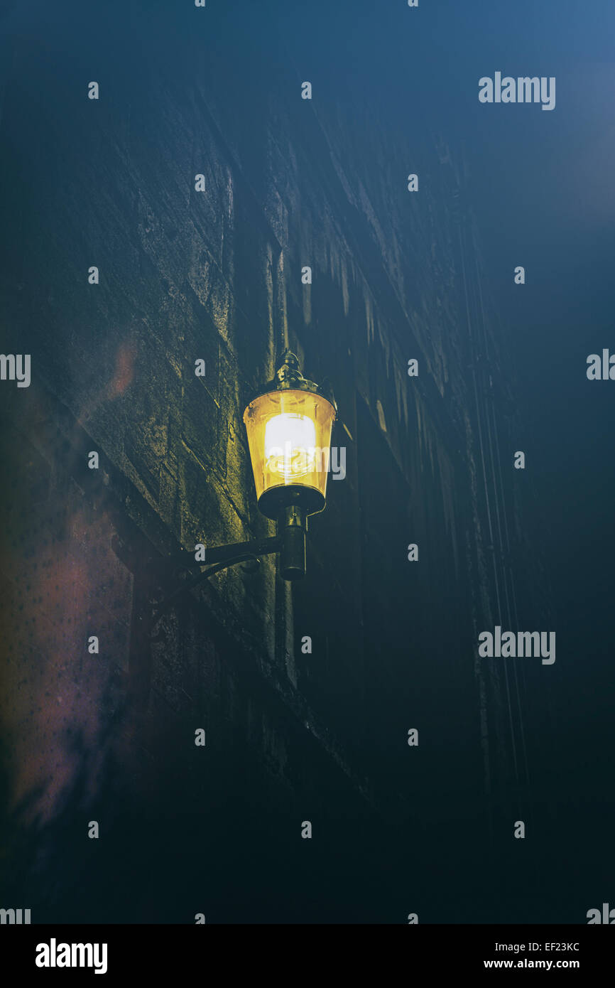Lampe de rue la nuit Photo Stock