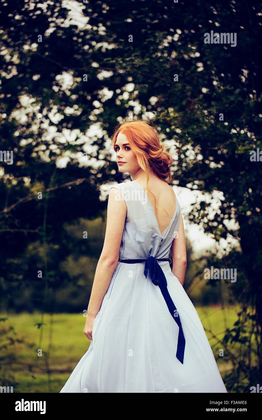 Belle fille historique de gingembre Photo Stock