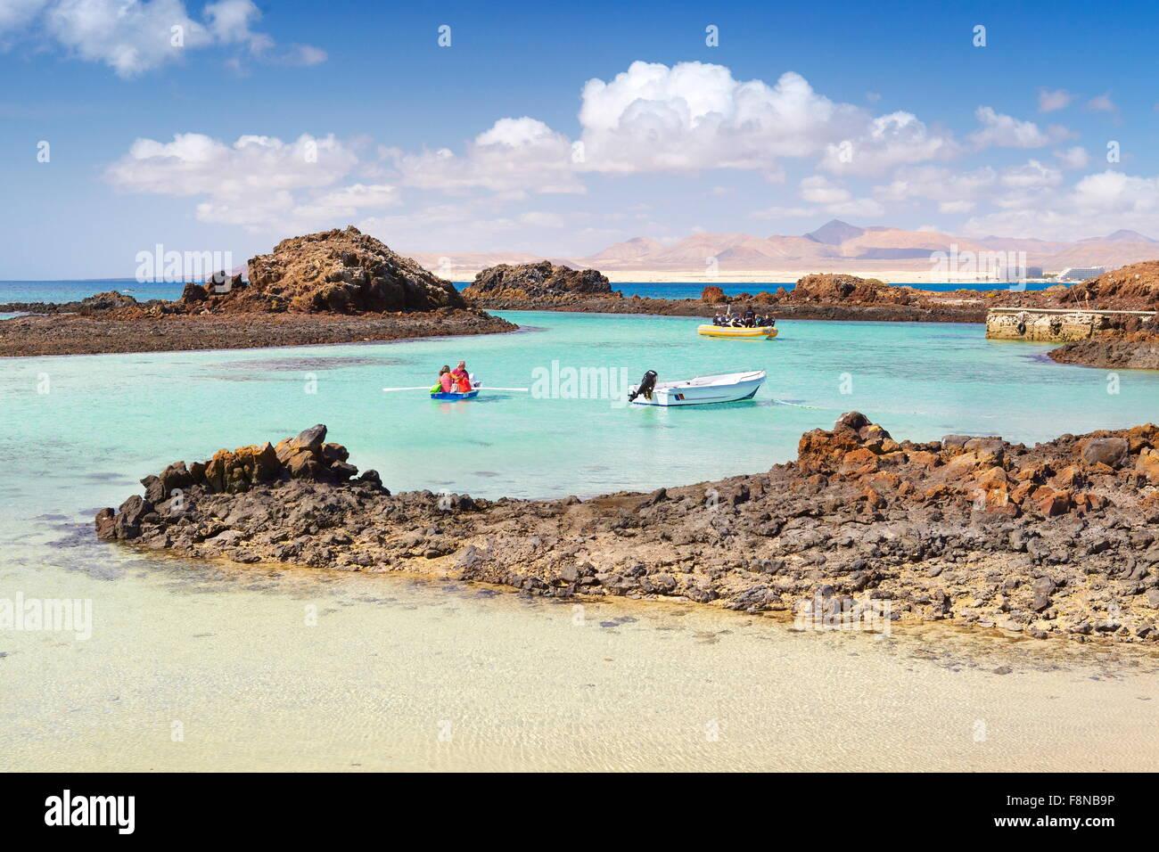 L'île de Lobos, îles de Canaries, EspagneBanque D'Images
