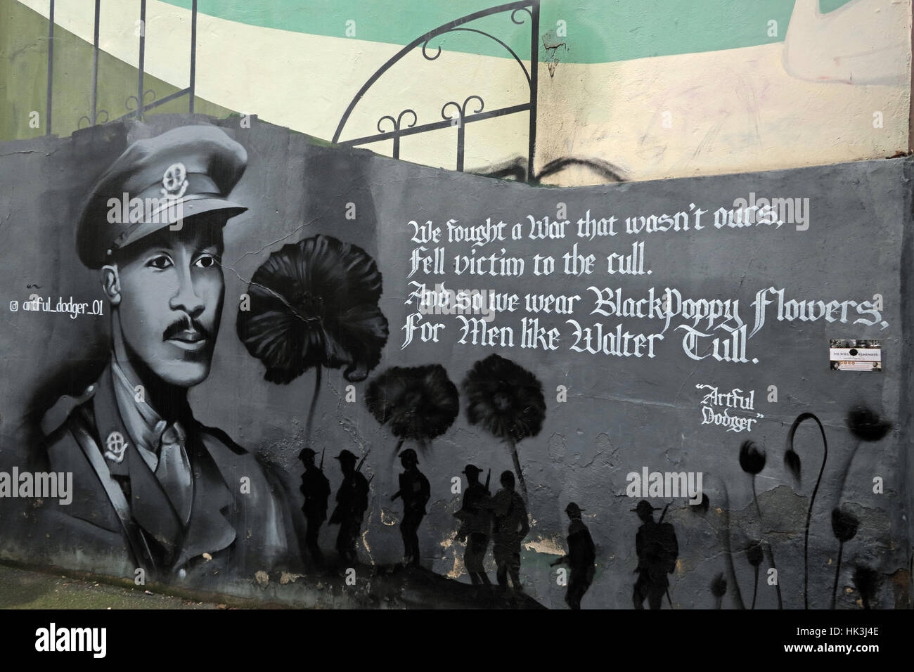 Brixton,England,UK,Bellefields,Road,city,centre,One,love,luv,street,BRXTN,city,of,London,BlackPoppy,artful,dodger,mural,commemoration,commonwealth,soldier,soldiers,Bellefields