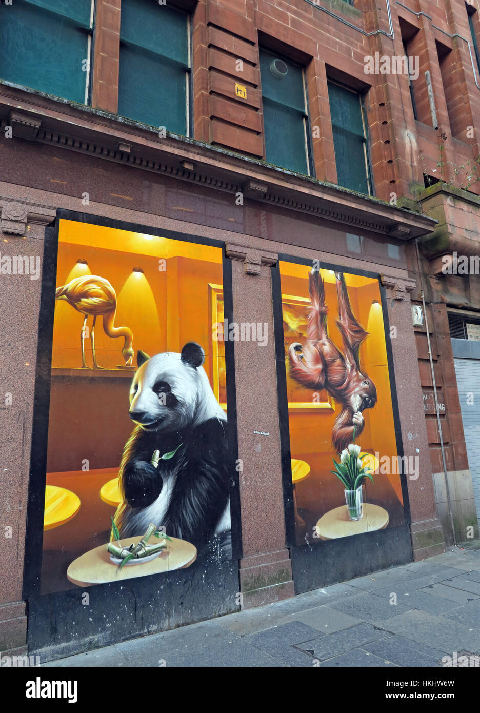gotonysmith,window,Pandas,front,painting,hoarding,Empty,Empty