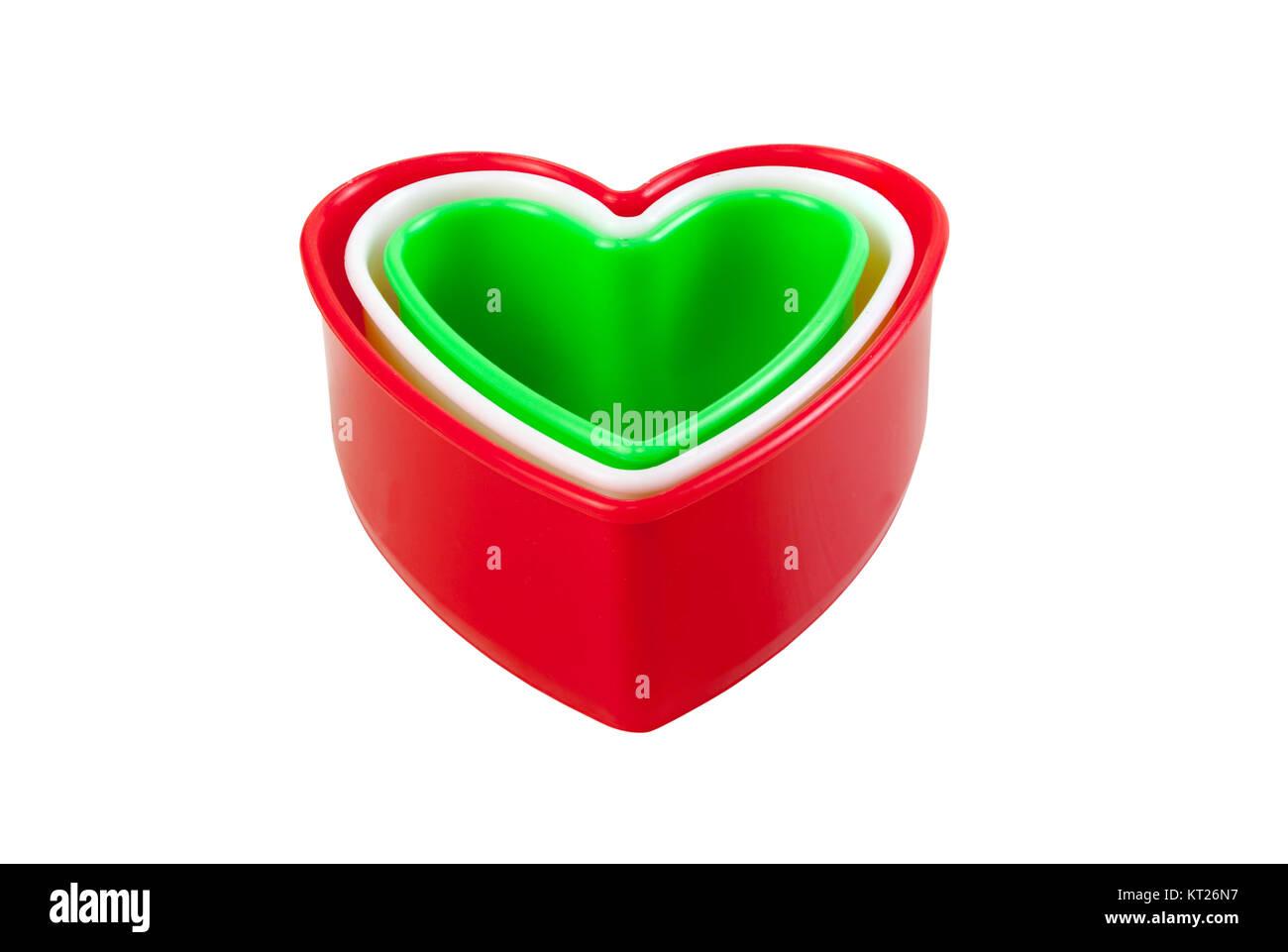 en plastique multicolores en forme de coeur isol banque d 39 images photo stock 169694259 alamy. Black Bedroom Furniture Sets. Home Design Ideas