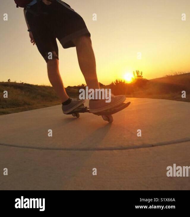 Balade coucher de soleil Photo Stock
