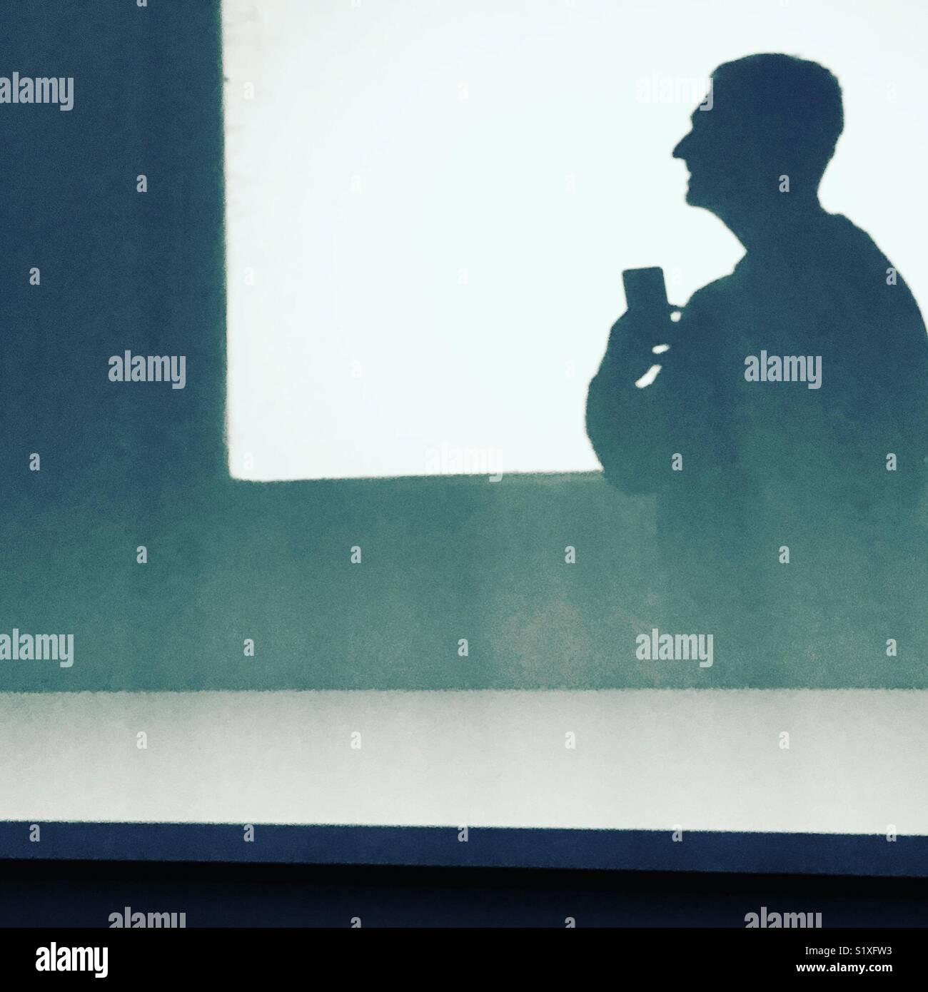 La réflexion de l'art de l'ombre Photo Stock