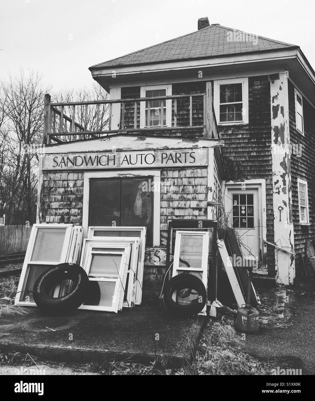 Pièces Auto Sandwich, Sandwich, Cape Cod, Massachusetts, United States Photo Stock
