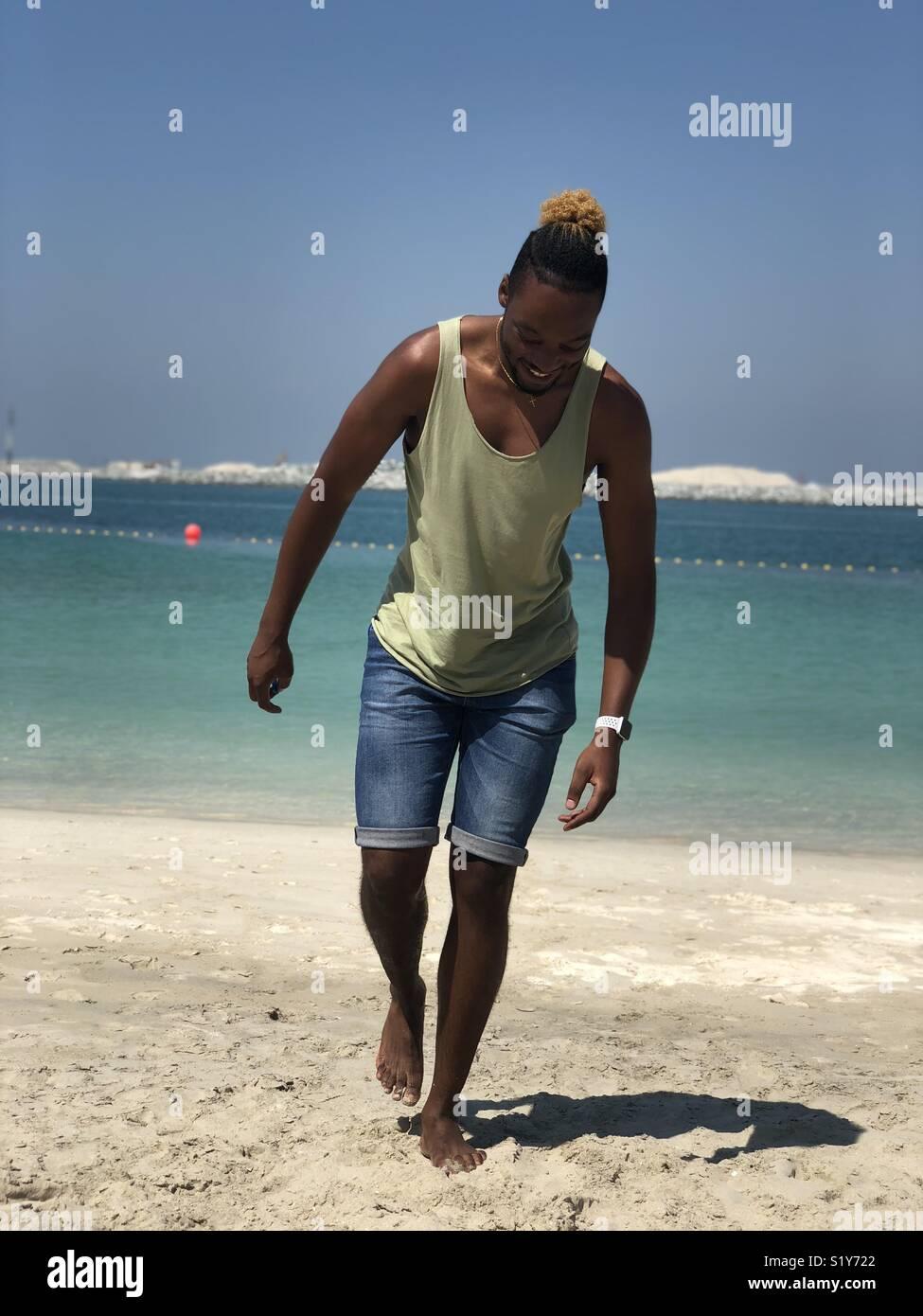 Vie sur la plage Photo Stock