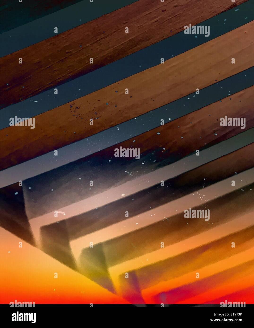 Géométrie psychédélique Photo Stock