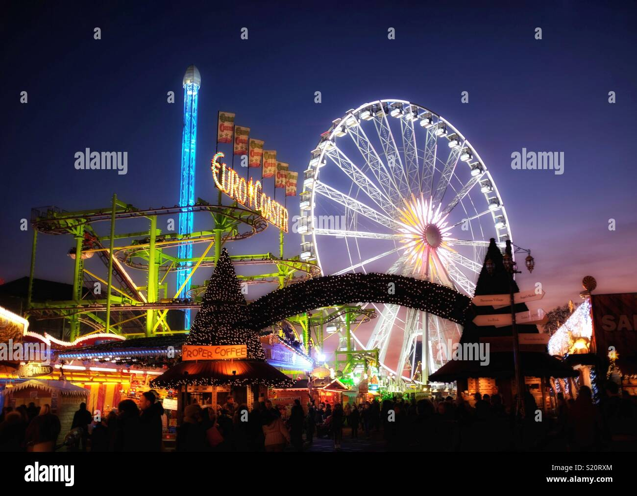 Fun à la foire - Winter Wonderland, Londres Photo Stock
