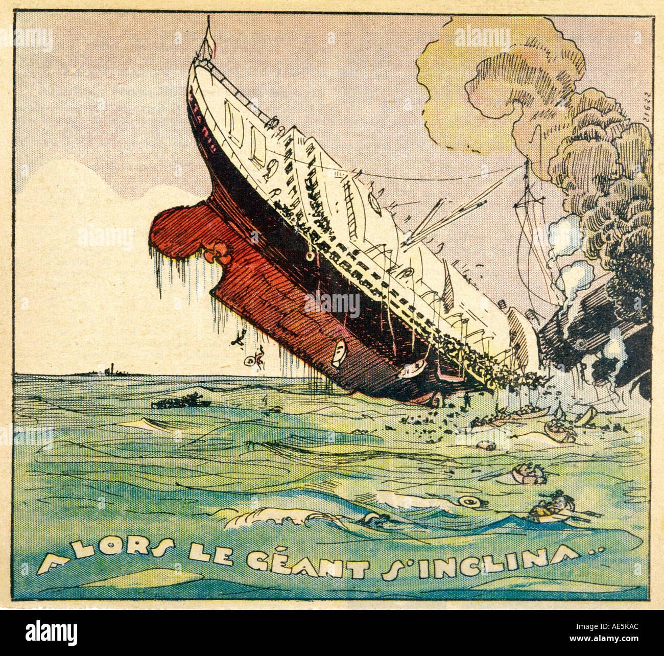 Naufragio del Titanic Immagini Stock