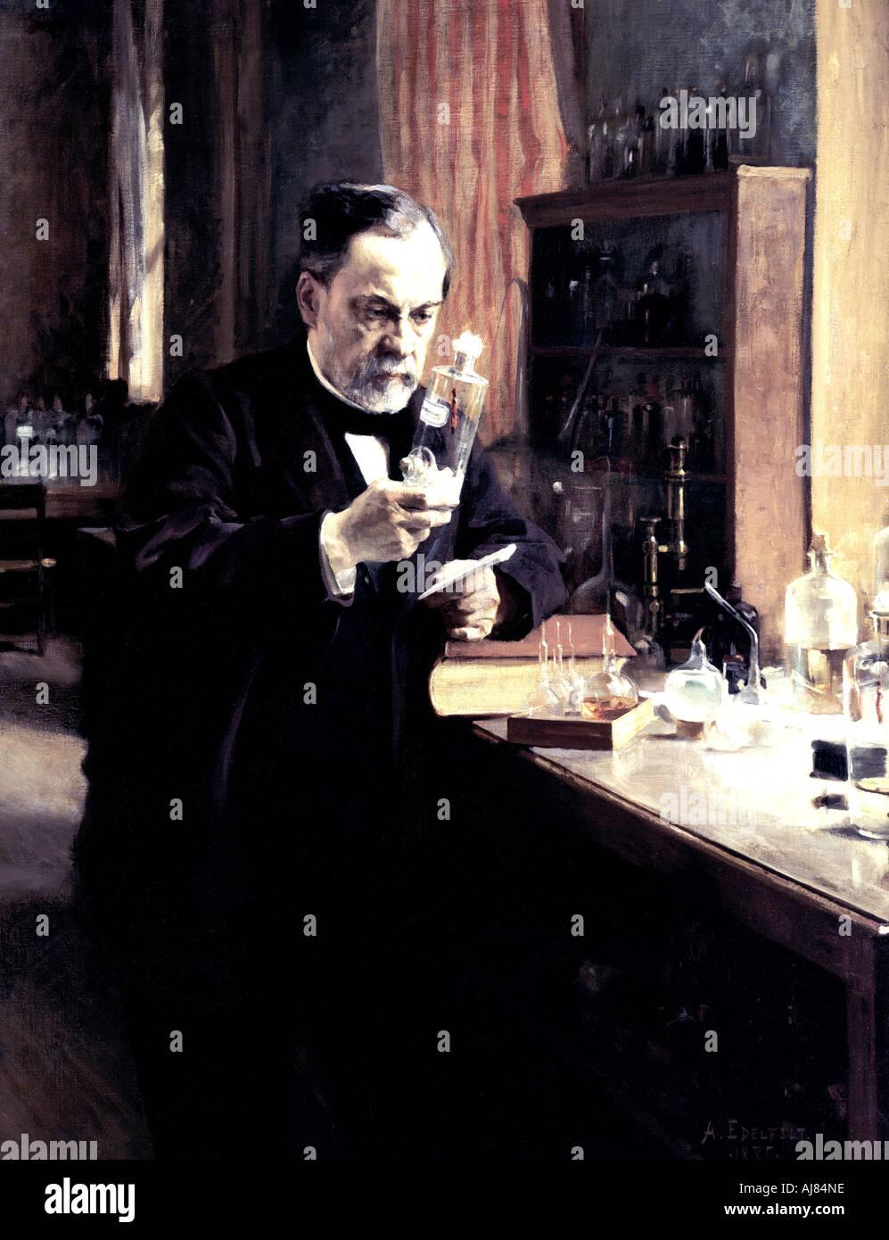 Louis Pasteur 1885 Immagini Stock