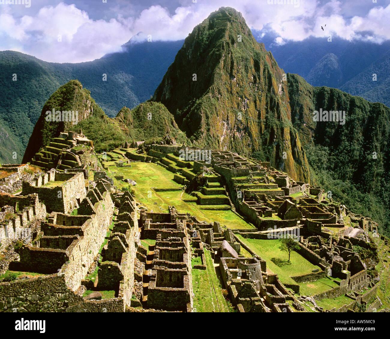 PE - Cuzco: Machu Picchu, l'antica città Inca delle Ande Immagini Stock