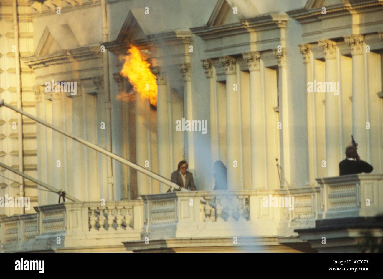 Ambasciata Iraniana assedio il 5 maggio 1980 Londra UK HOMER SYKES Immagini Stock