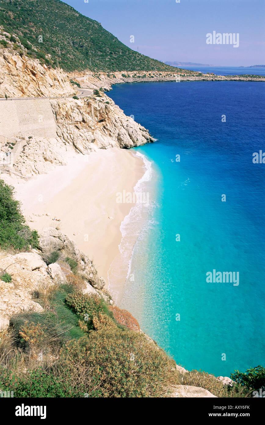 Spiaggia di Kaputas, Lycia, Anatolia, Turchia, Asia Minore, Asia Immagini Stock