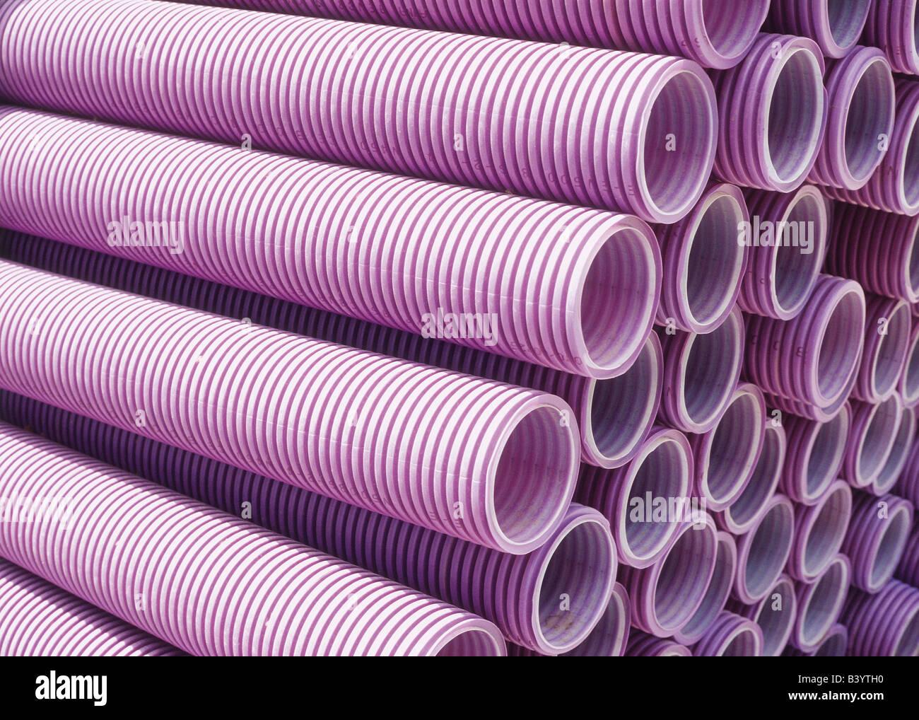 Pila di tubi Immagini Stock