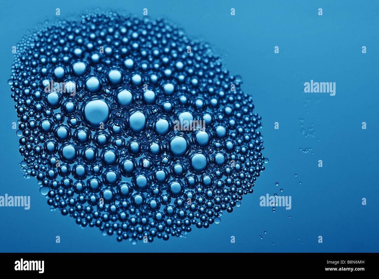 Bella vista dettagliata di bolle Immagini Stock