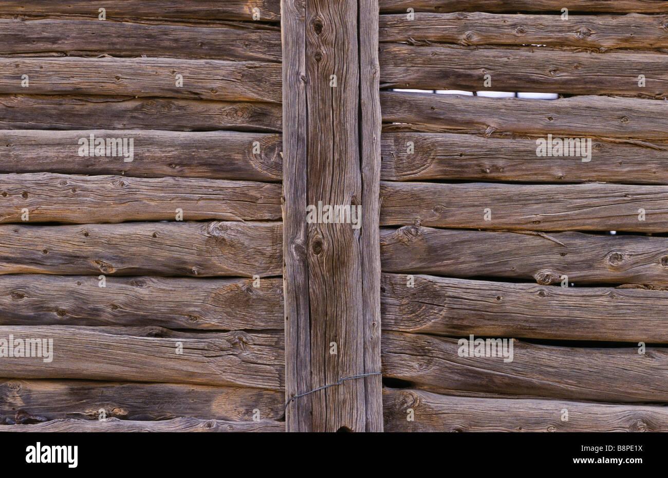 Drop-log costruzione di parete, outback Australia Immagini Stock