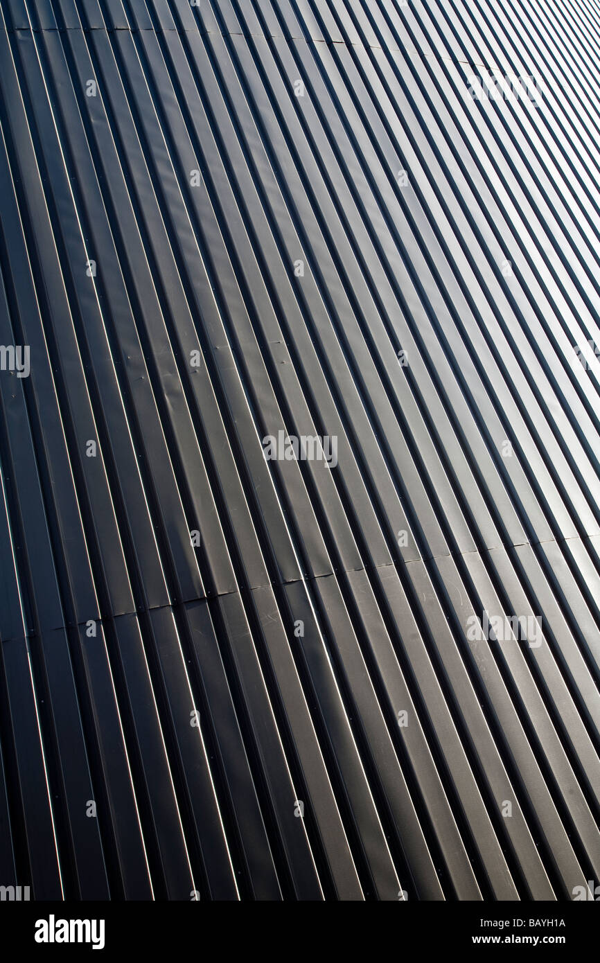 Parete fatta di ferro corrugato fogli ( CGI ) Immagini Stock