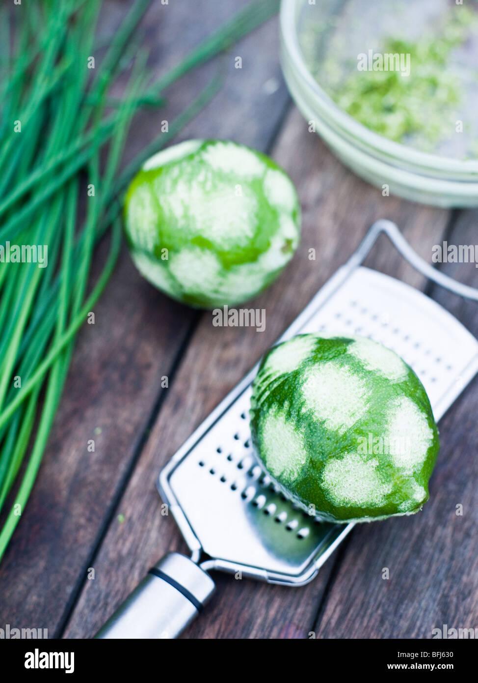 Lime, close-up, Svezia. Immagini Stock