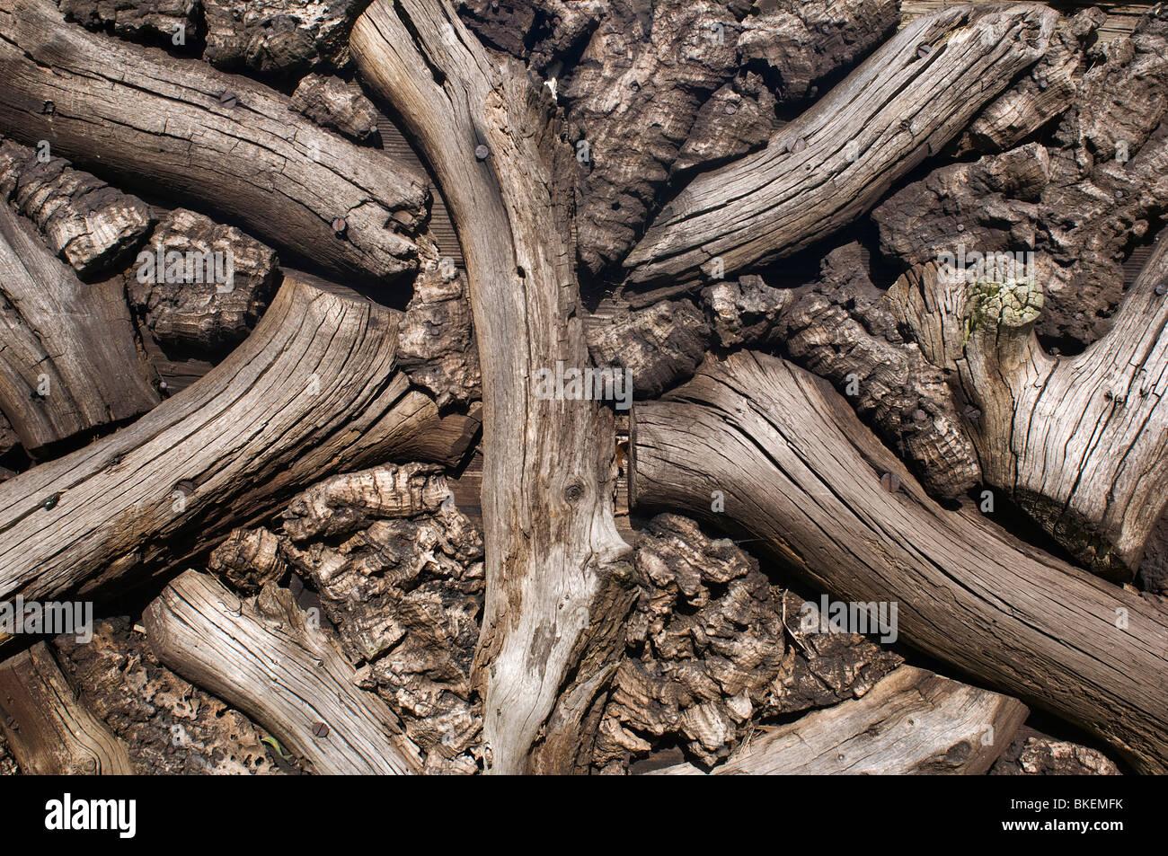 Reticolo di legno Immagini Stock