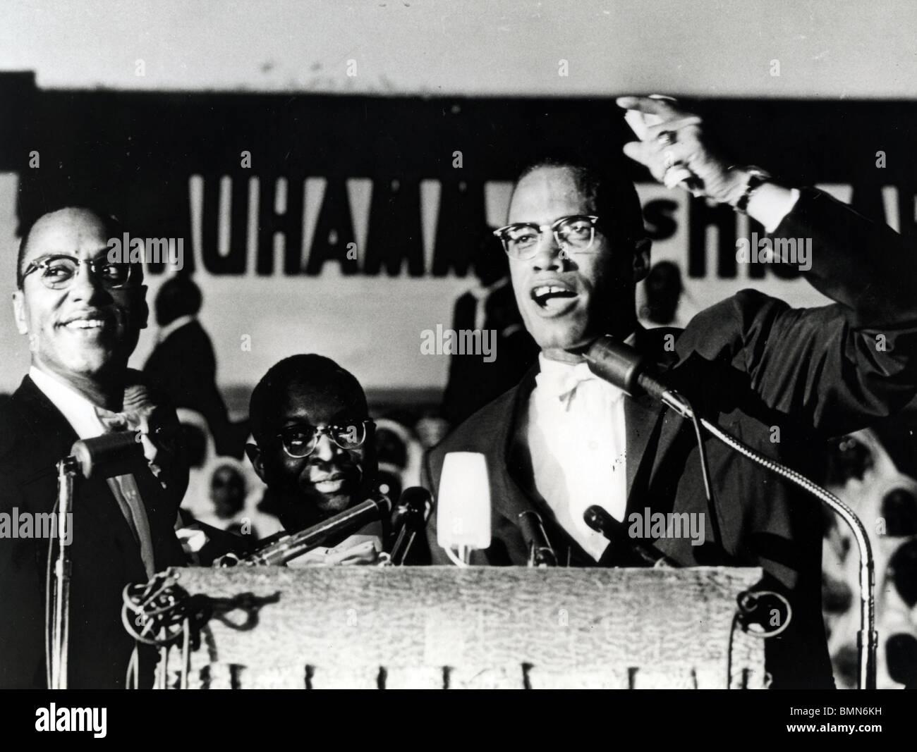 MALCOLM X (1925-1965) afro-americano di ministro e attivista per i diritti umani come capo del sedicente nazione Immagini Stock