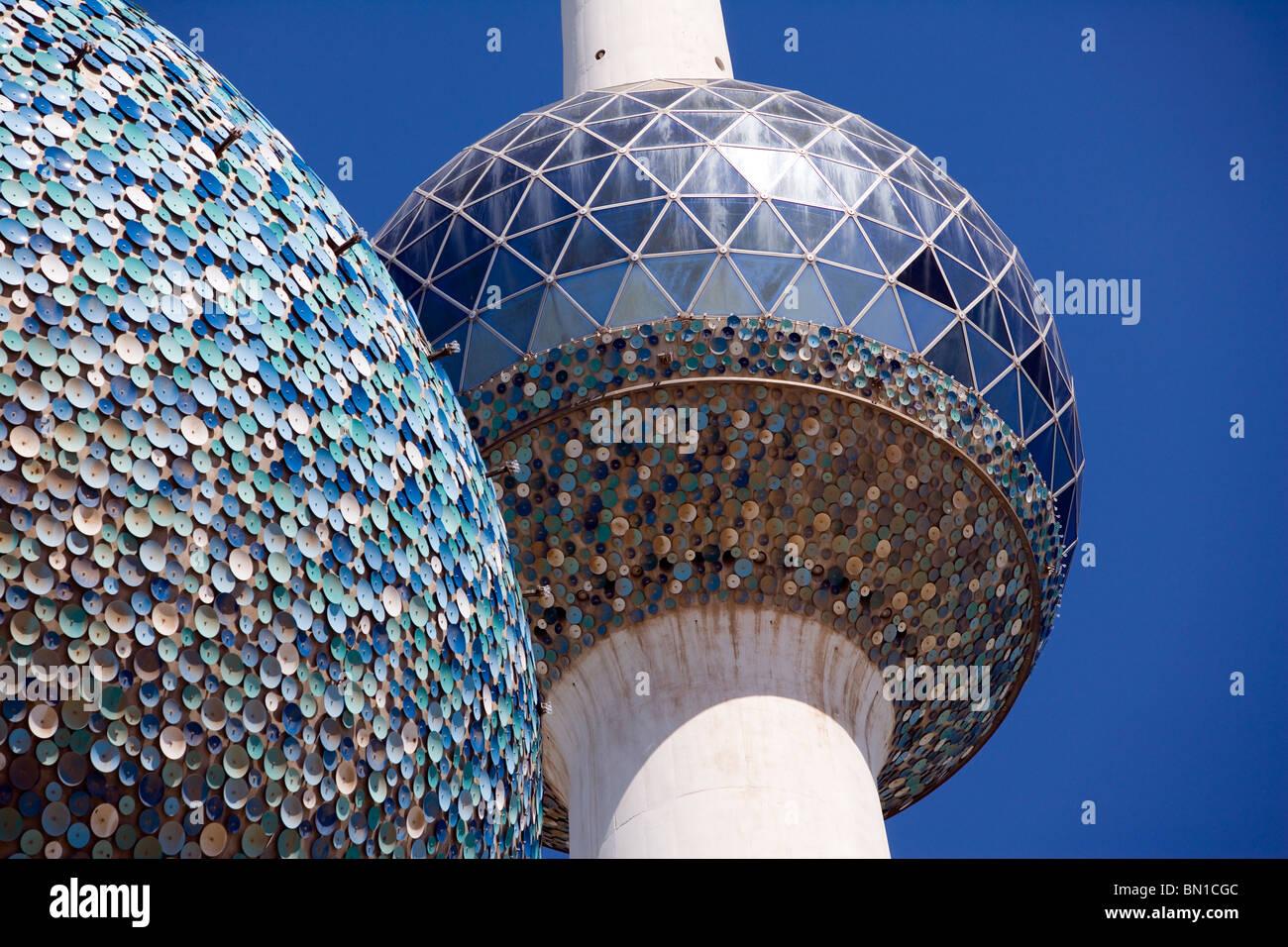 Kuwait Towers, iconico punto di riferimento, lo Stato del Kuwait, Medio Oriente Immagini Stock