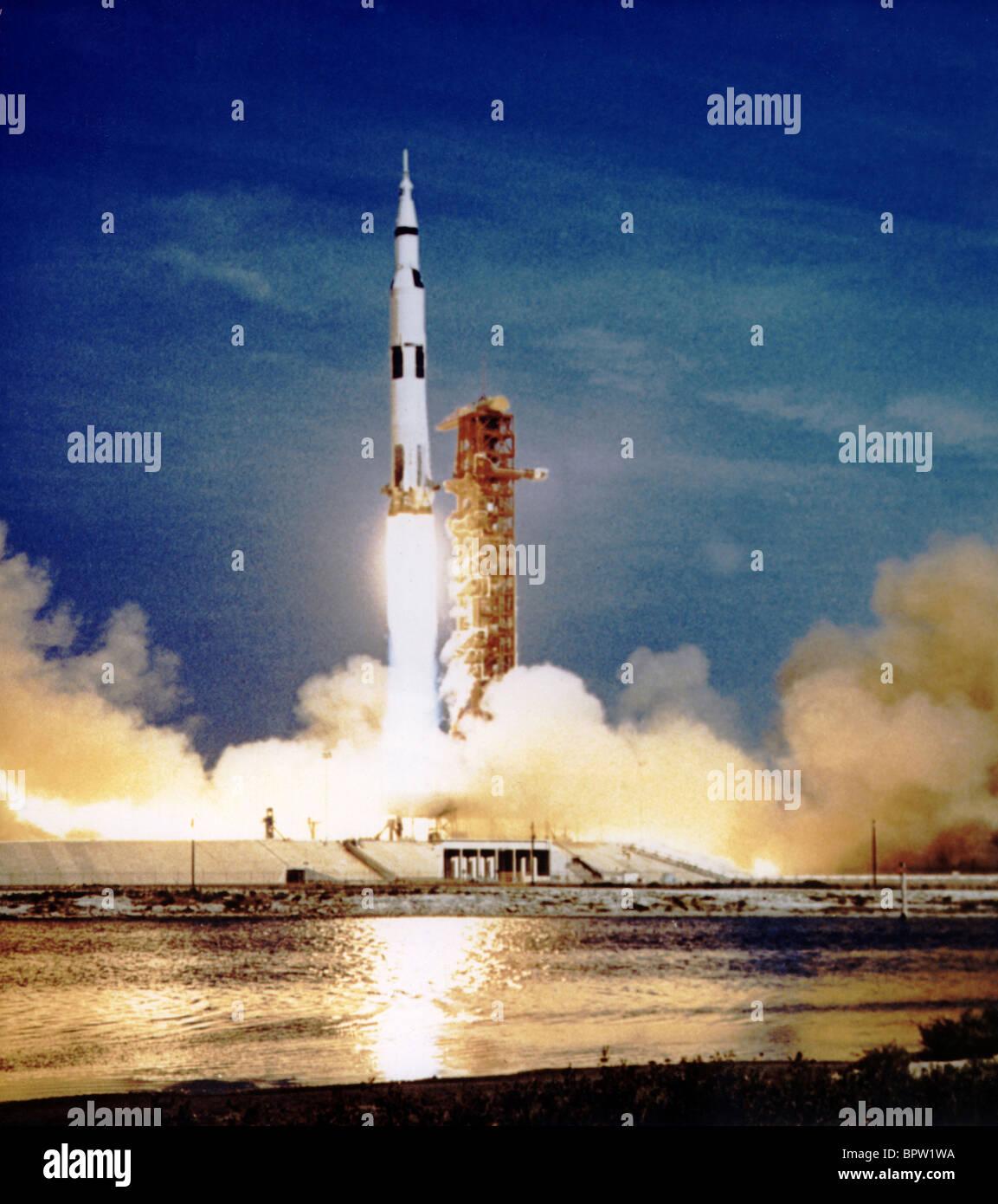 Saturno il lancio del razzo Apollo 11 (1969) Immagini Stock