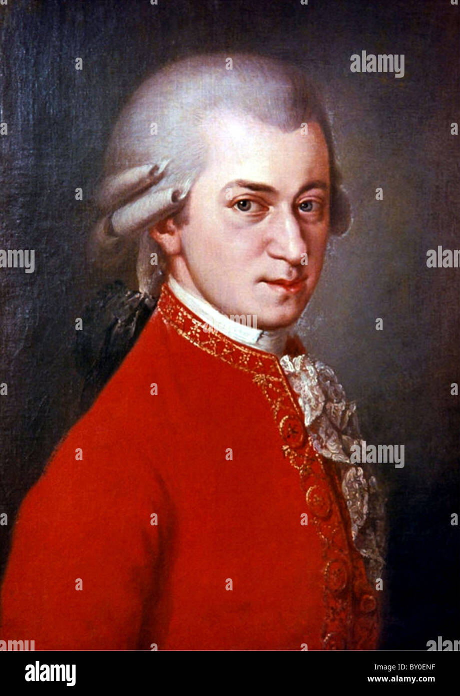 Mozart, compositore Wolfgang Amadeus Mozart Immagini Stock