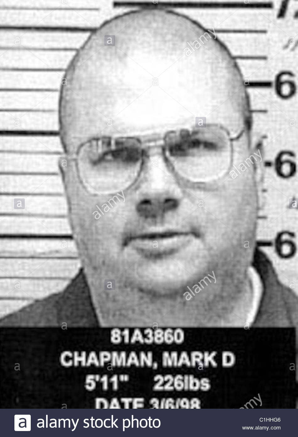David Chapman Mugshot Immagini Stock