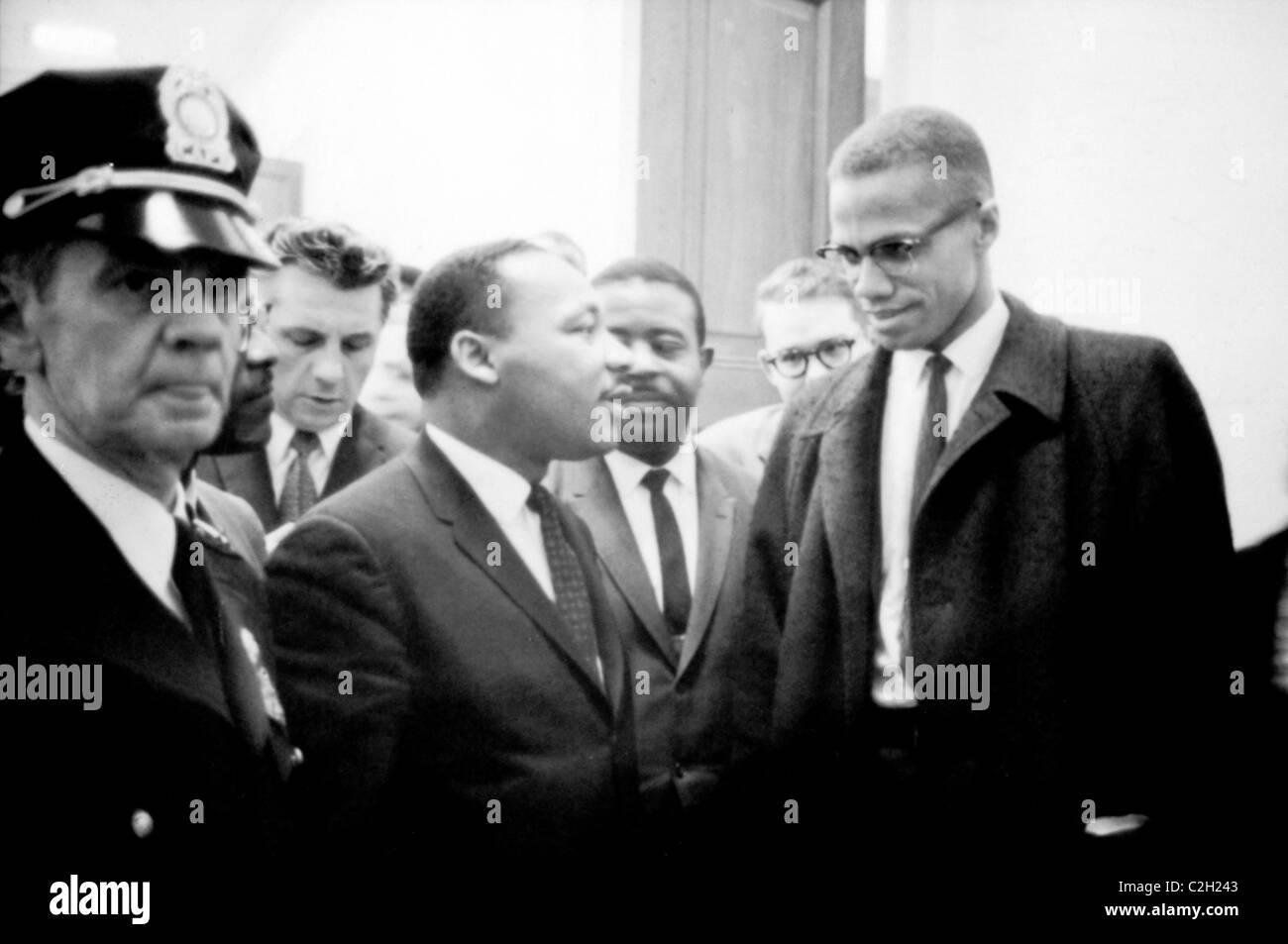 Martin Luther King e Malcolm X Immagini Stock