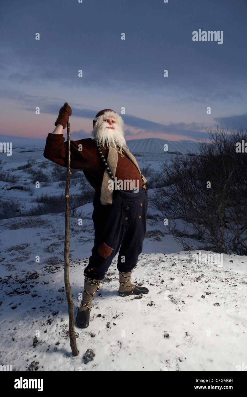 Islandese Yule Lad, Santa Claus, Islanda Immagini Stock