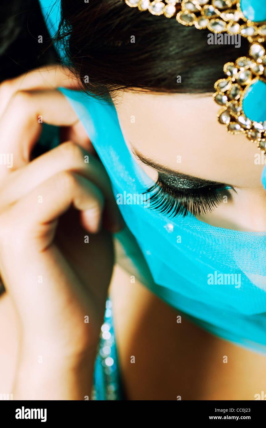 Bella donna indiana Immagini Stock