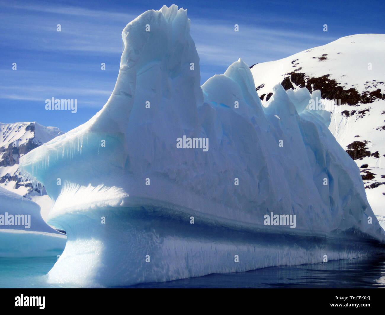 Iceberg in Antartide Immagini Stock