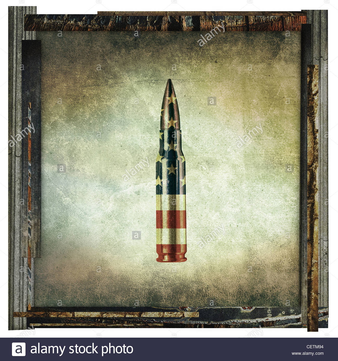 American bullet stampare Immagini Stock