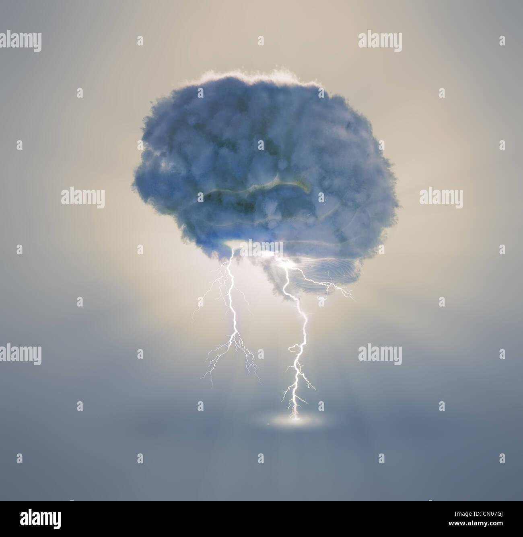 Il brainstorming e il concetto di creatività illustrazione Immagini Stock