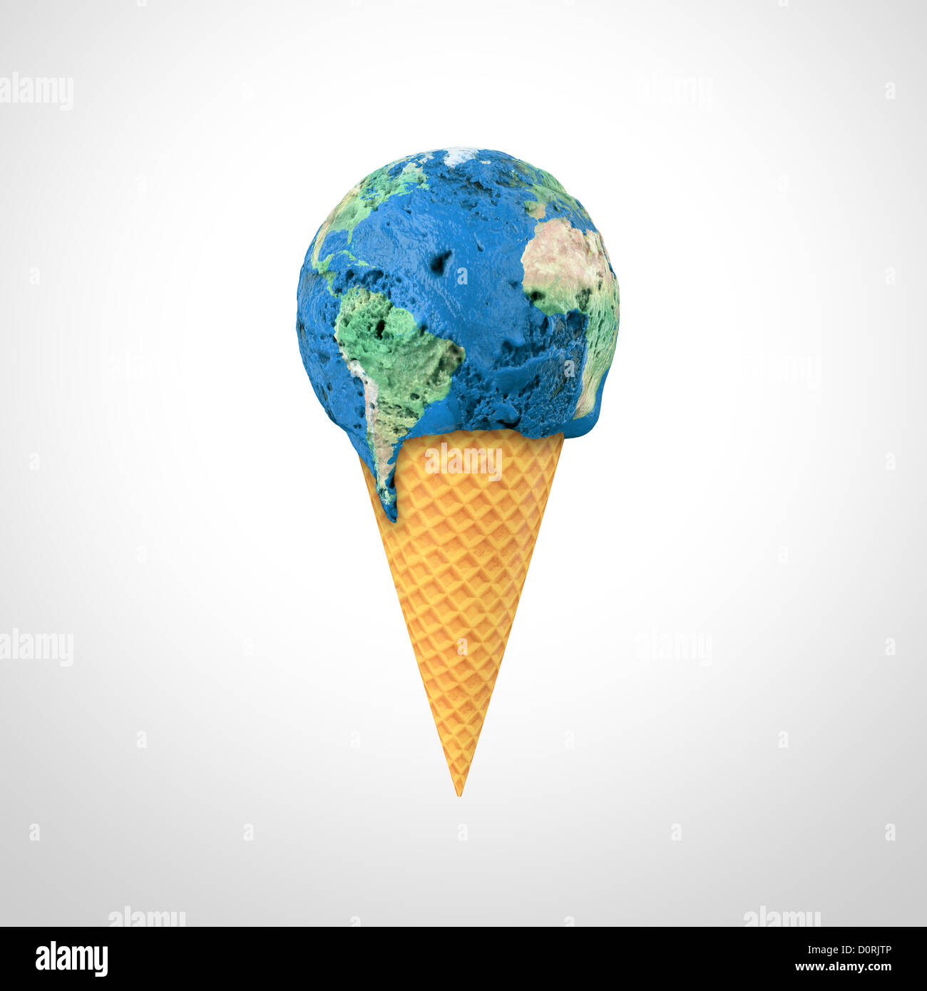 Mondo gelato Immagini Stock