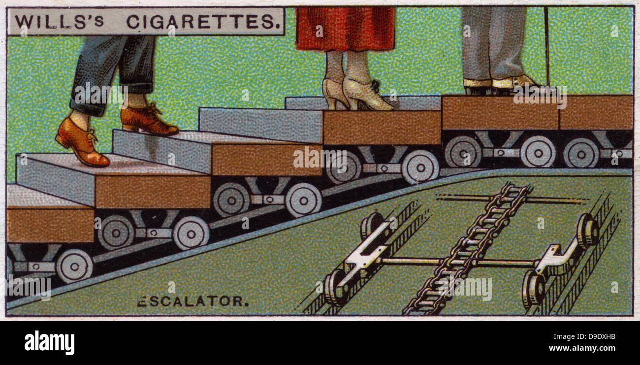 Meraviglie ingegneristiche, 1927: Escalator, Gran Bretagna. Immagini Stock
