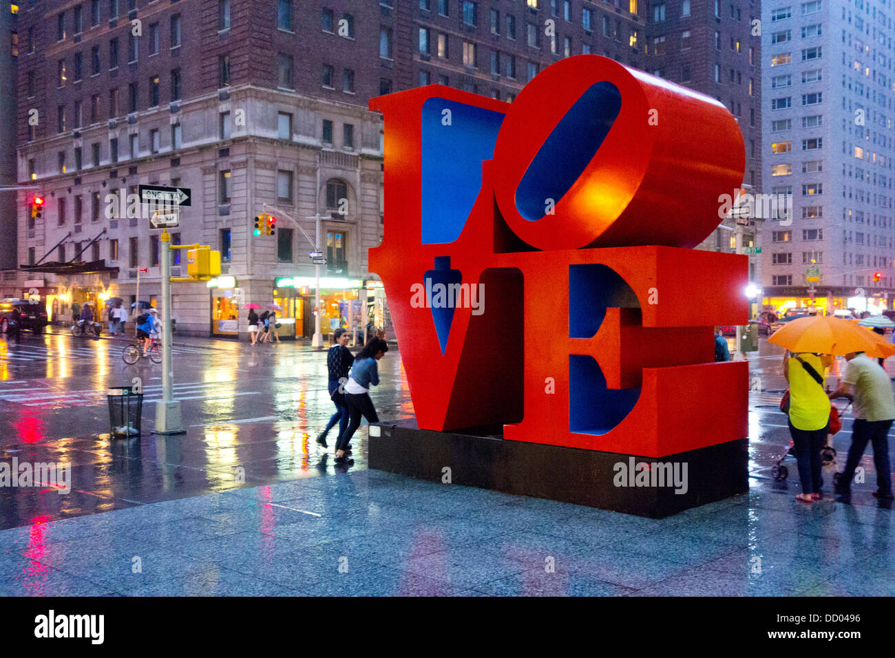 Amore scultura da Robert Indiana in NYC Immagini Stock