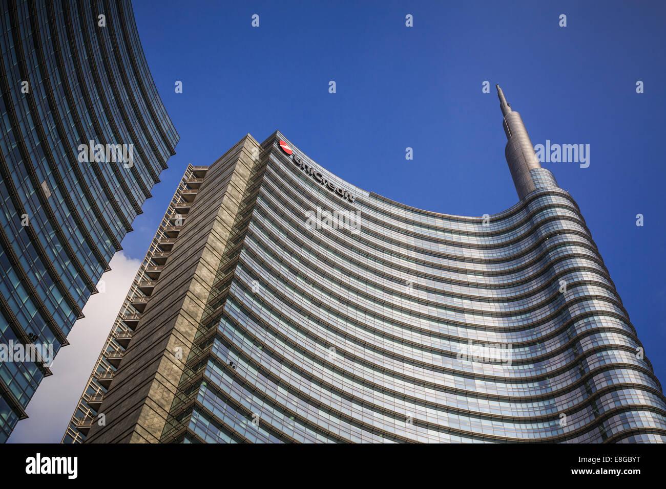 Unicredit Tower (Torre Unicredit) , Milano, Italia Foto Stock